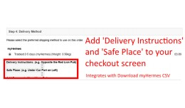 Delivery Instructions During Checkout [VQMOD]