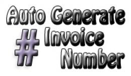 Auto generate invoice Number 1.5x - 2.0x