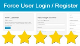 Force Users To Login / Register, Members Only We..