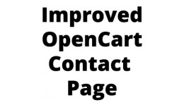 Improved OpenCart Contact Page