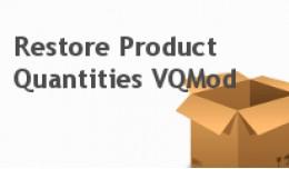 Restore Product Quantities VQMod