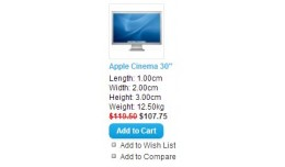 Length, width, height and weight in catalog
