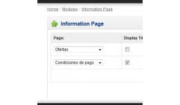 Information Page Module