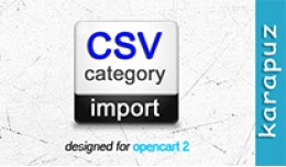 CSV Category Import (for Opencart 2)