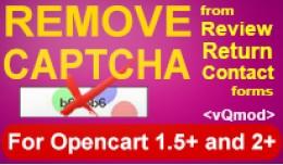 Remove Captcha - (Reviews,Contact,Return,Registr..