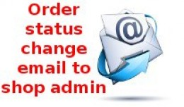 Order status changed email