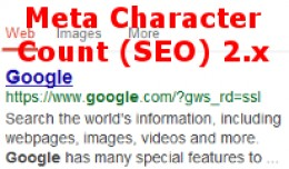 SEO Character Count 2.x