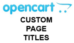 Custom Page Titles