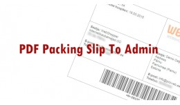 Packing Slip To Admin