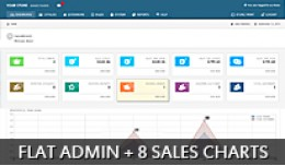 Flat Admin + 8 Sales Charts