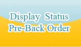 Product Status Pre-Back Order