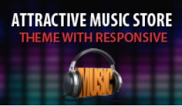 Attractive Music Store Responsive Theme