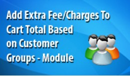 Add Extra Fee/Charges to Cart Total based on cus..
