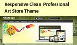 Responsive Clean Art Store Opencart Template