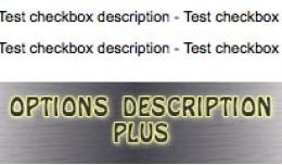Options Description Plus