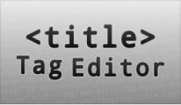 SEO Custom Page Title Tag Editor [VQMOD]