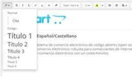Editor de Texto (HTML) - Español/Castellano