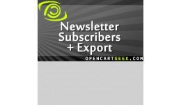 Newsletter Subscribers + Export (Customer export..