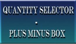 Quantity Selector - Plus Minus Box[VQmod]