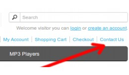 Add contact link in header links