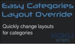 Easy Categories Layout Override