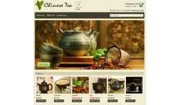 "Template Online Store ""Chinese Tea"""