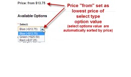 Product price equal lowest select or radio type ..