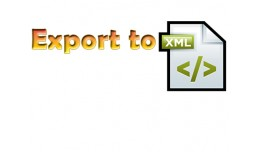 Export customers to xml