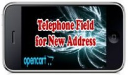 Telephone Field for New Address
