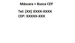 Auto Completar Endereço com CEP + Máscara Tele..