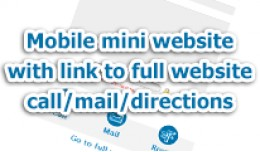 Mobile mini website