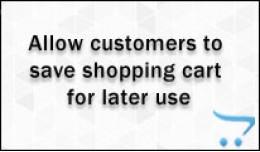 Save Shopping cart