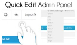 Quick Edit Admin Panel for OC2 40% off!