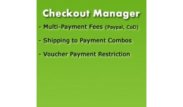 Checkout Manager = Shipping to Payment combos + ..