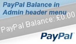 PayPal balance in Admin menu