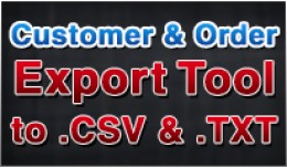 Customers and Order Data Export to CSV and TXT