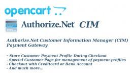Authorize.Net CIM Payment Gateway