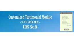 Customized Testimonial Module (OCMOD)