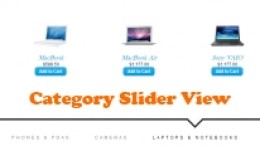 Category Slider View