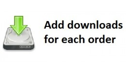 add downloads to each order