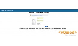 Admin Language Select OC 1.5 and OC 2.0