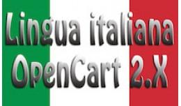 Lingua italiana per OpenCart 2.x