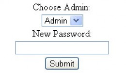 Admin Password Reset