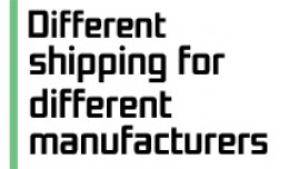 Different shipping for different manufacturers [..