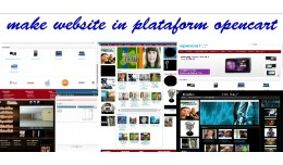 make website in plataform opencart