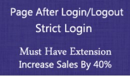 Page After Login - Logout / Strict Login