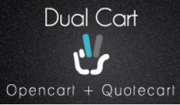 Dual Cart - Opencart + Quotation Cart