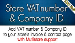 Store VAT Number & Company ID