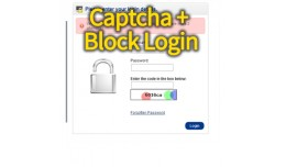 Security- Admin Login: Catcha + Block after many..