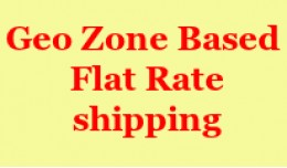 Geo Zone Based Flat Rate Shipping